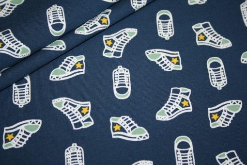 renee-d.de Onlineshop: Jersey Stoff blau Turnschuhe