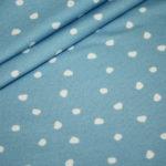 Hilco dünner Sweatshirt Stoff Winterdreams by Petra Laitner blau Punkte