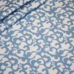 Hilco dünner Sweatshirt Stoff Winterdreams by Petra Laitner blau Ornamente