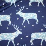 Hilco dünner Sweatshirt Stoff Winterdreams by Petra Laitner blau Reh