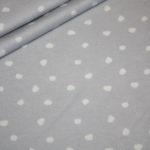 Hilco dünner Sweatshirt Stoff Winterdreams by Petra Laitner grau Punkte