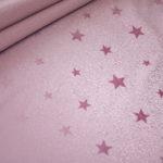Soft Shell Softshell Outdoor Jackenstoffe rosa uni Sternchen werden bei Regen sichtbar