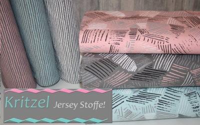 Kritzel Jersey Stoffe!
