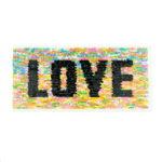Streichpailetten Applikation Love