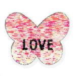 Streichpailetten Applikation Herz Love