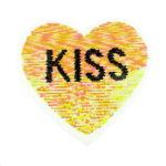 Streichpailetten Applikation Herz Kiss