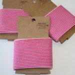 Cuff Bündchen Streifen pink 1,10m