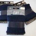 Cuff Bündchen breite Rippe blau 1,10m