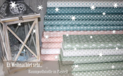Weihnachtsstoffe in Pastell!