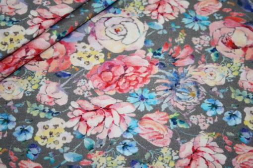 renee-d.de Onlineshop: Jersey Stoff Digitaldruck Blumen