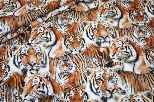 renee-d.de Onlineshop: Jersey Stoff Digitaldruck Tiger