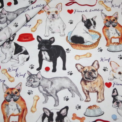 renee-d.de Onlineshop: Fester Dekostoff Hunde Französische Bulldogge