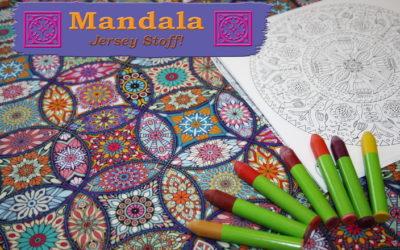 Mandala Jersey Stoff!
