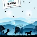 VORBESTELLUNG  Lycklig Design Sweatshirt Stoff Wild Shadows Pferde blau