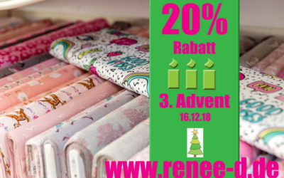 20% Rabatt am 3. Advent