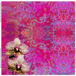 Stenzo Jersey Stoff Digitaldruck Panel Buntes Muster Blumen pink bunt