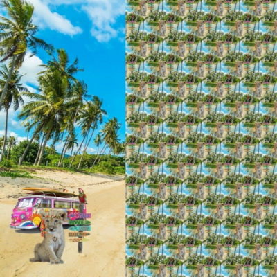 renee-d.de Onlineshop: Stenzo Jersey Panel Stoff Löwe Bulli