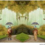 Stenzo Jersey Stoff Panel Digitaldruck Pony im Park