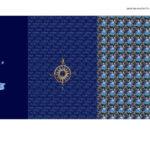 Stenzo Jersey Stoff Digitaldruck Panel Leuchtturm Maritim blau