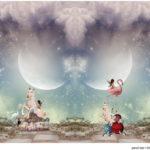 Stenzo Jersey Stoff Panel Digitaldruck Einhorn Karussell