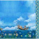 Stenzo Jersey Stoff Digitaldruck Panel Insel Erdmännchen