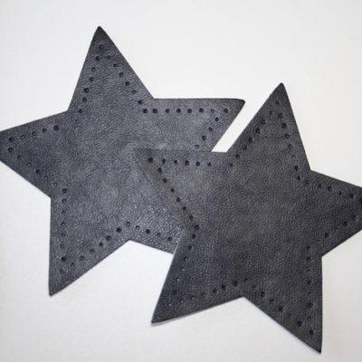 Artikel aus dem renee-d.de Onlineshop: Aufnäher Stern Lederimitat