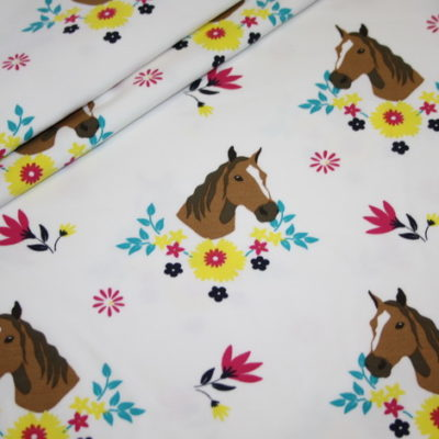 renee-d.de Onlineshop: Jersey Stoff Pferde