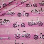 Hilco Jersey Stoff Fahrrad pink