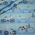 Hilco Jersey Stoff Fahrrad blau