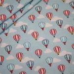 Hilco Jersey Stoff Zirkus blau Luftballons