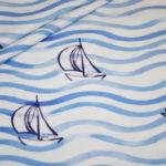 Hilco Jersey Stoff Maritim Boote Schiffe blau