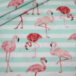 Hilco Baumwollstoff Flamingo Fever mint türkis