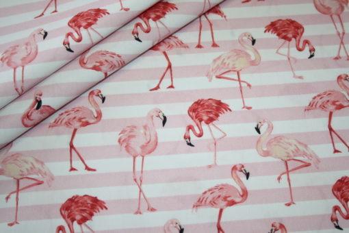 renee-d.de Onlineshop: Hilco Baumwollstoff Flamingo