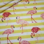 Hilco Baumwollstoff Flamingo Fever gelb
