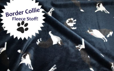 Border Collie Fleece Stoff!