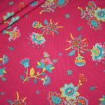Jersey Stoff Crazy Flowers pink kleine Blumen