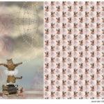 Stenzo Jersey Stoff Panel Digitaldruck Ballett Katze Ballettcat