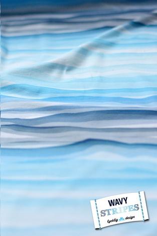 renee-d.de Onlineshop: Lycklig Design Wavy Stripes Jersey Stoffe