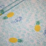 Hilco Jersey Stoff Summer Fun Obst Ananas Wasser Pool