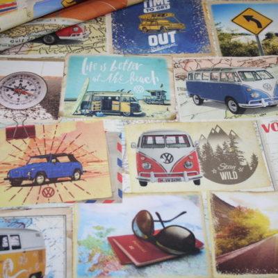 renee-d.de Onlineshop: Fester Deko Stoff Original VW Bulli