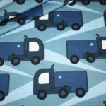 Hilco dünner Sweatshirt Stoff Monster Truckers by Petra Laitner blau Laster