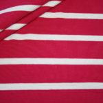Hilco Dünner Viskose Jersey Stoff pink weiß gestreift