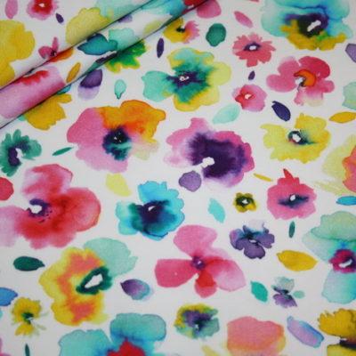 Artikel aus dem renee-d.de Onlineshop: Sweatshirt Stoff French Terry Blumen