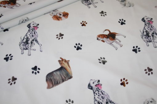 Artikel aus dem renee-d.de Onlineshop: Digitaldruck Jersey Stoff Hunde