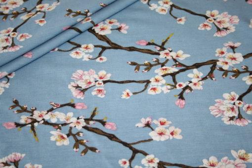 renee-d.de Onlineshop: Elastischer Spandex Jersey Stoff Modal kirschblüte