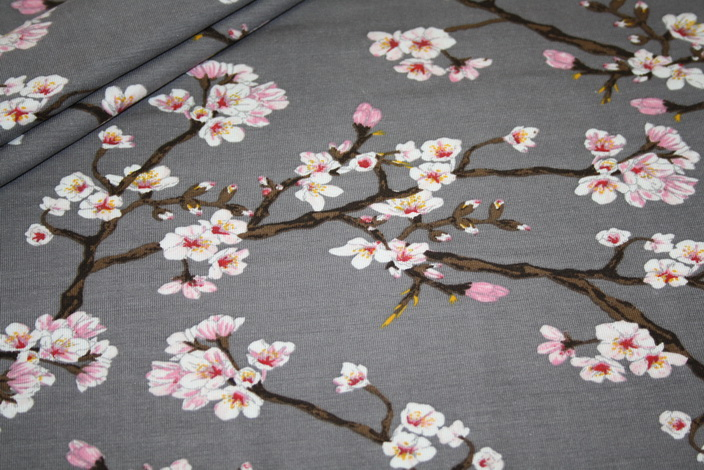 Artikel auOnlineshop: Elastischer Spandex Jersey Stoff Modal kirschblüte