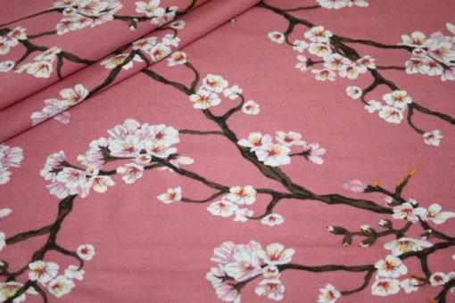 Artikel aus dem renee-d.de Onlineshop: Elastischer Spandex Jersey Stoff Modal kirschblüte