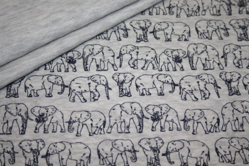 Artikel aus dem renee-d.de Onlineshop: Stepp Jersey Stoff Elefant