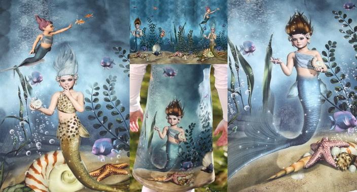 Meerjungfrau Panel Stoff!