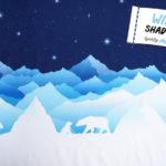 VORBESTELLUNG! Lycklig Design Sweatshirt Stoff Wild Shadows Eisbär (Lieferung September)